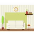 The living room with white sofa vector image