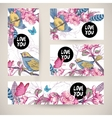 Vintage templates set spring greeting card vector image