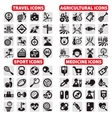 Big icons set vector image