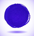 Blue marker circle stain vector image