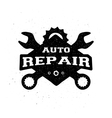 Car repair monochrome emblem vector image