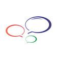 colorful talk bubbles icon vector image
