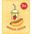 Hot dog poster vector image