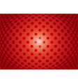 Optical abstract on red background vector image