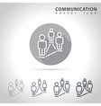Social communication outline icon vector image