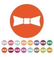 The bow tie icon Bow Tie symbol Flat vector image