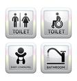 Toilet pictograms vector image