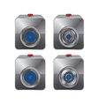 camera application button set vector image