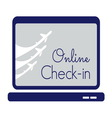 check in travel store1 resize vector image vector image