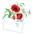 flower bouquet with greeting vector image