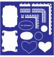 Frame Set - different frames and borders vector image vector image