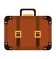 Colorful travel suitcase graphic vector image