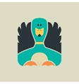 Flat square icon of a cute duck vector image