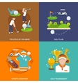 Golf flat set vector image