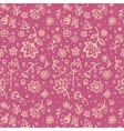 Hand-drawing flower seamless pattern vector image