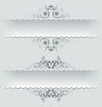 Ornamental decorative paper frames banner vector image