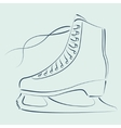 Sketched ice skates vector image