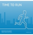 Time to run Sport in the city vector image