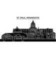 usa st paul minnesota architecture city vector image