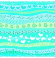 Blue Love Valentins Day Waves Seamless Background vector image