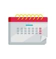 Calendar App Icon in Flat Design Web Organizer vector image