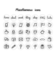 Miscellaneous icons vector image vector image