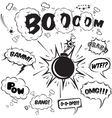 Comic speech bubbles design elements collection vector image vector image