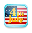 July 4th button vector image