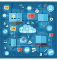 Communication technologies concept vector image