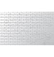 White grunge brick wall vector image