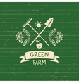 logo green farm Sketch for logo vector image