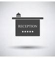 Hotel reception desk icon vector image