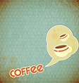 coffee cups and lettering Coffee vector image