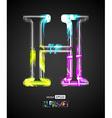 Design Light Effect Alphabet Letter H vector image
