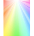 rainbow light vector image