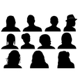 Set Of Men And Women Heads vector image