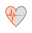 symbol of the ecg in heart vector image