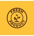 The fresh product icon Eco and bio ecology vector image