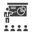 training presentation solid icon business vector image