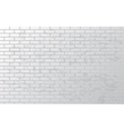 White grunge brick wall vector image