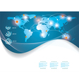 blue map of the world vector image