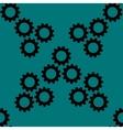 Settings Sign web icon flat design Seamless gray vector image