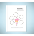 Report Dream girl cartoon vector image