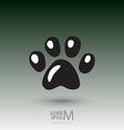 Animal footprint vector image vector image