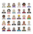 characters part3 vector image vector image