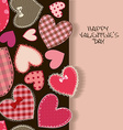 Love greeting card with heart patchworks vector image