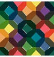 Octagon seamless colorful pattern vector image vector image