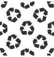 Recycle symbol icon pattern vector image