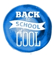 Poster on watercolor background Back to school vector image