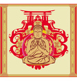 Buddha - abstract background beautiful ornament vector image